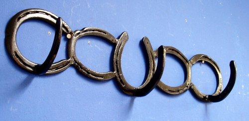 welded horseshoe art. Horseshoe Coat Rack Western