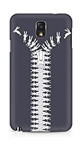 Amez designer printed 3d premium high quality back case cover for Samsung Galaxy Note 3 (Unzip your imagination)