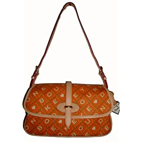 Dooney & Bourke Purse Handbag Large Flap Tangerine