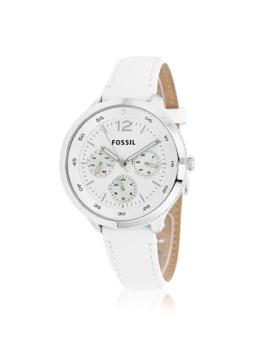 Fossil Women's ES3242 Editor White Leather Watch