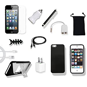 Abco Tech 14 in 1 Accessory Bundle for for Apple iPhone 5 16GB 32GB 64GB