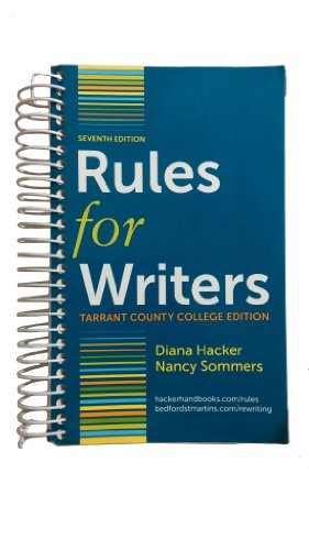 Rules for Writers 7th Edition By Diana Hacker with Sommers, Hacker, Diana; Somme