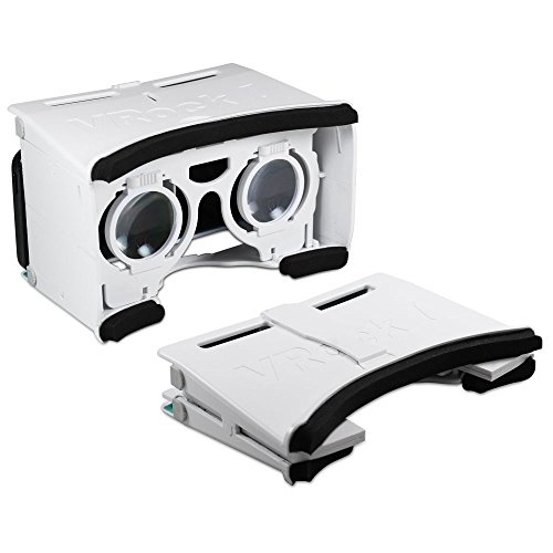 Archgon Portable VR Virtual Reality 3D Game Movie Glasses Headset Foldable Design for Samsung Galaxy S6/S7 & iPhone 5S/6/6S-White