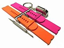 buy Bsi Set 1 Pink And 1 Tangerine Replacement Silicone Straps Bands 22Mm With 2 Pins And Tool For Motorola Moto 360 Smart Watch Smartwatch Wireless + Free Silver Metal Truck Keychain With Bsi(Tm) Logo