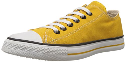 Converse Unisex Yellow Canvas Sneakers - 8 UK (0104192YL)