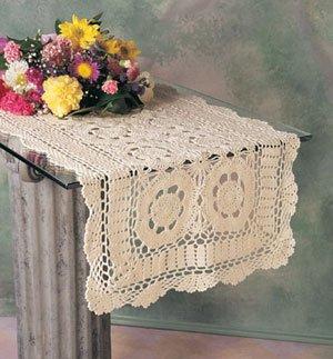 Traditional Crochet Table Runner 16