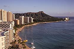 Another Gorgeous Day Below Diamond Head on Waikiki Beach in Honolulu, Hawaii - Enchanting Photographic Print by Carol M. Highsmith