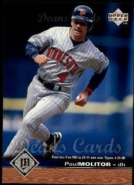 1997 Upper Deck # 102 Paul Molitor Minnesota Twins (Baseball Card) Dean's Cards 8 - NM/MT