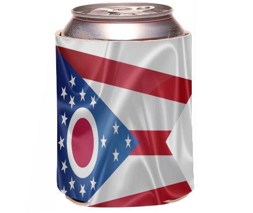 Rikki Knighttm Ohio State Flag Design Drinks Cooler Neoprene Koozie front-614529