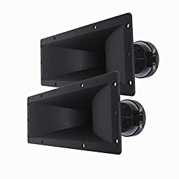 Seismic Audio - Pair of 4x10 Horn Tweeters with Driver PA/DJ Speakers - Replacement