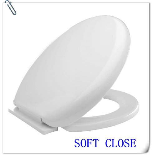 EROLLING Brand NEW LUXURY SLOW SOFT TOILET SEAT WC WHITE TOILET SEAT GUARANTEE FREE P&P