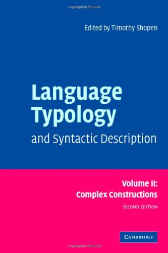 Language Typology and Syntactic Description, Vol. 2:...