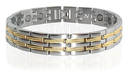 New Magnetic Stainless Steel Golf Mens Bracelet 8.5 ""