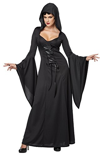 Great Group Halloween Costumes: The Addams Family - California Costumes Deluxe Sexy Long Dress - Morticia