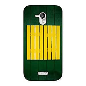 Special Green Squares Yello Back Case Cover for Micromax Canvas HD A116