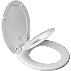 Mayfair 83EC 000 NextStep Child/Adult Built-in Potty Seat with Lift-Off Hinges, Round, White
