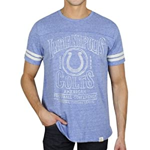 Indianapolis Colts NFL Mens Tailgate T-Shirt Blue By Junk Food Clothing Co by Junk Food