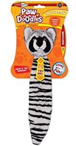 Pawdoodles Toss 'N Fetch Dog Toy, Raccoon