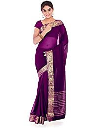 Roopkala Silks & Sarees Chiffon Saree (Ds-234_Wine)