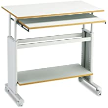"Safco 1926GR 35"" Wide Adjustable Height Workstation, 19-3/4d x 33h, Gray PVC Top"