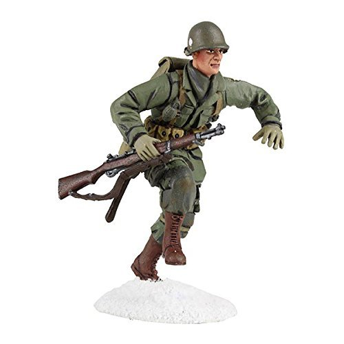W. Britain U.S. 101st Airborne Infantry Running with M-1 Garand No.1, Winter 1944-45 #25045