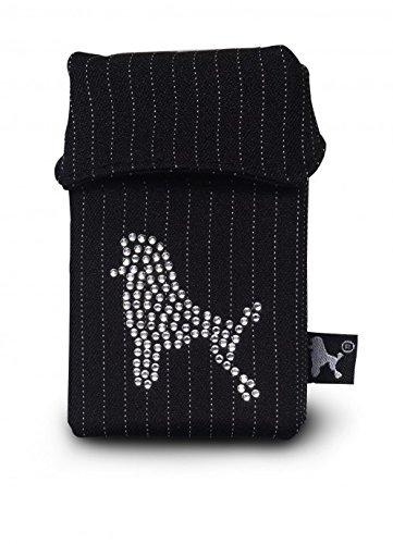 Smokeshirt VIP elegante custodia per pacchetti di sigarette, con cristalli Swarovski e regalo, rivestimento, caso, portasigarette per pacchetti di sigarette, cassa di sigaretta Diamond de Caniche