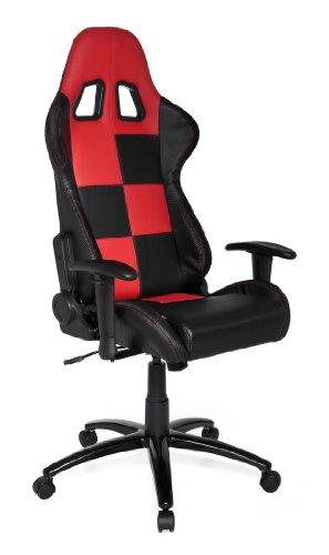 hjh OFFICE Gaming Stuhl / Bürostuhl Sportsitz Kunstleder SUZUKA schwarz / rot