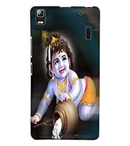 ColourCraft Lord Krishna Design Back Case Cover for LENOVO K3 NOTE