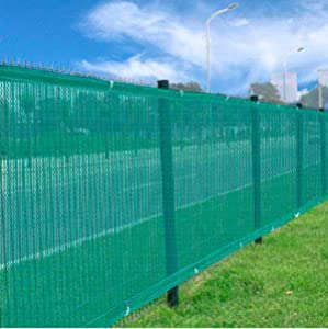 TWO  Heavy Duty Green 6'x 50' Privacy Screen Mesh Fence Windscreen Fabric Construction Residential Outdoor Garden Home