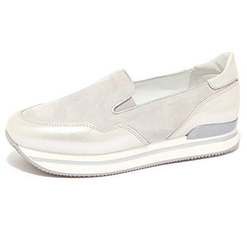 1511Q slip-on HOGAN argento/ghiaccio scarpa donna loafer shoe woman [39]