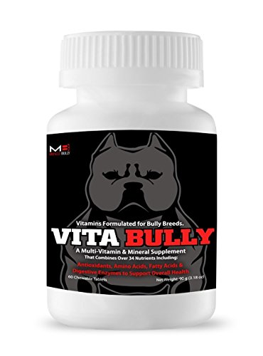 Vita Bully Supplement for Bully Breeds: Pit Bulls, American Bullies, Exotic Bullies, Bulldogs, Pocket Bullies (60 Tablets) by Muscle Bully (Pit Bulldog compare prices)