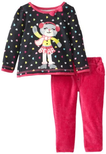 "Watch Me! by Grow Sesame Street-Sandaletti da bambina, 2 pezzi, a forma di cuore, motivo ""Muff-Felpa e pantaloni da donna, rosa, bambina, 12 mesi, colore: rosa, taglia: 12 mesi da neonato Baby, bambino"