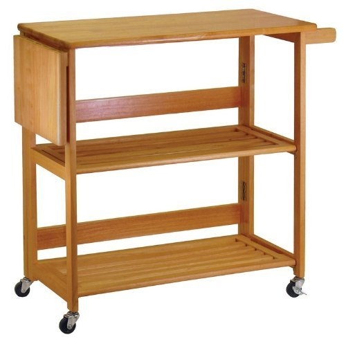 Cheap Kitchen Cart Foldable With Shelves By Winsome Wood (HHA148-34137)
