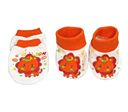 Matching Scratch Mittens And Booties Socks Newborn Infant