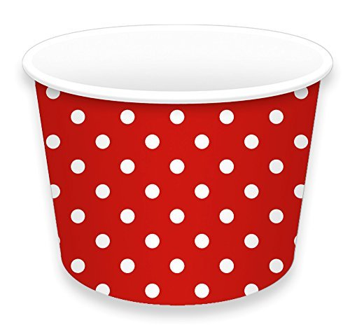 LolliZ® Ice Cream Cups 8oz., Red/Polka Dots, 12 Pcs (Party Ice Cream Cups compare prices)