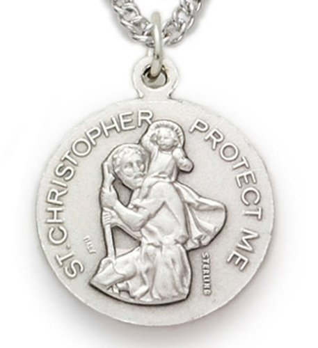 Nickel Silver Football Sport St Saint Christopher Medal comes with a 20