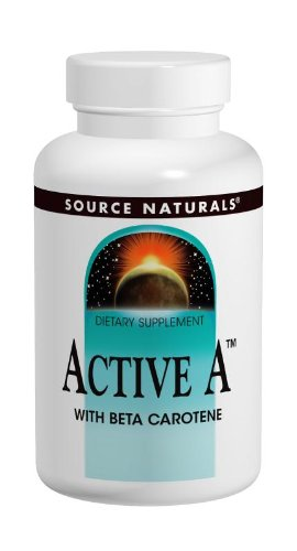 Source Naturals Active A With Beta Carotene 25,000Iu, 60 Tablets (Pack Of 2)