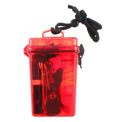 20Pc Asr Outdoor Waterproof Pocket Emergency Survival Tool Kit W/ Fire Starter & Multi-Function Tool front-79411