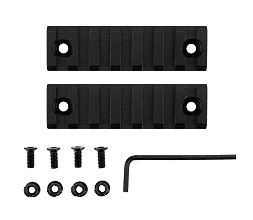Monstrum Tactical 7 Slot/3 inch Picatinny Rail for Keymod Systems (Black x 2) (Ar 7 Quad Rail compare prices)