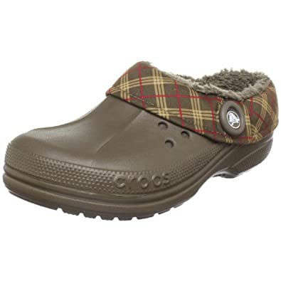 Crocs Unisex Blitzen Winter Plaid Clog,Chocolate/Chocolate,8 M (B) US Women / 6 M (D) US Men