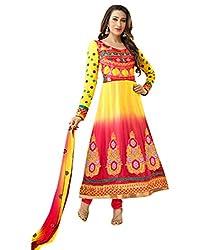 Khazana Women's Unstitched Dress Material (khazana-k-2111_Yellow_Free Size)