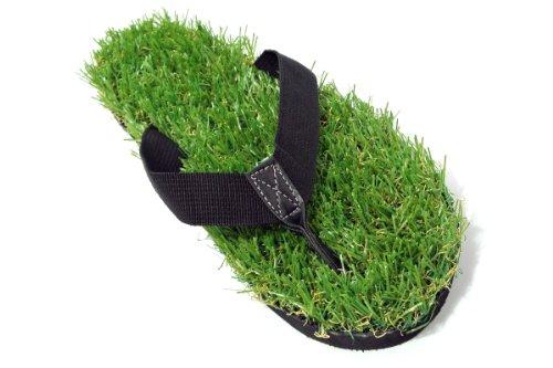 Groundwalk Grass Flip-flop Sandals (For Men or Women) (U.S. Men's 11, Black)
