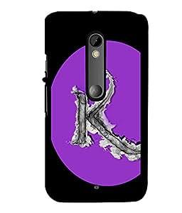 Fuson 2D Printed Alphabet K Designer back case cover for Motorola Moto X Style - D4180