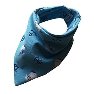 zahntuch bavoir bandana imperm able mouettes bleu b b foulard tanche b b s. Black Bedroom Furniture Sets. Home Design Ideas