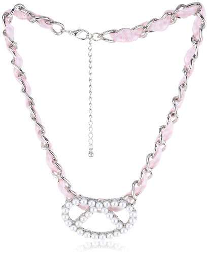 Schmuck-Art 28254 Wies'N Brezl 21 Centimeters Palladium Necklace With Pendant
