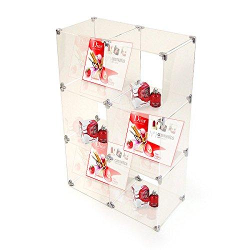 Large 3 x 2 Acrylic Cube Shelving