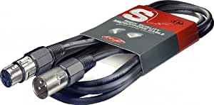 Stagg 3m High Quality XLR to XLR Plug Microphone Cable
