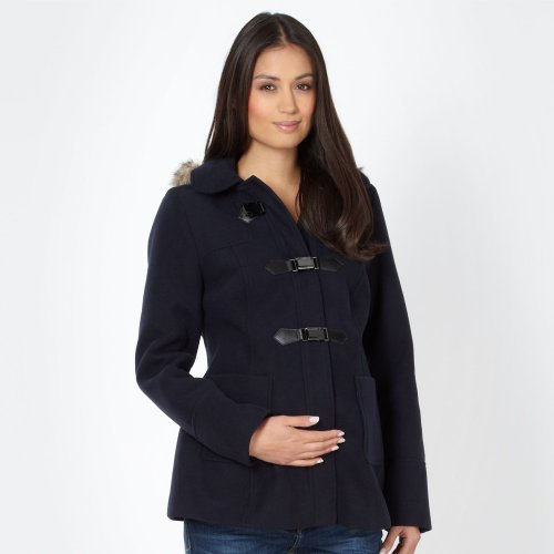 Red Herring Maternity Womens Navy Maternity Duffle Coat 14