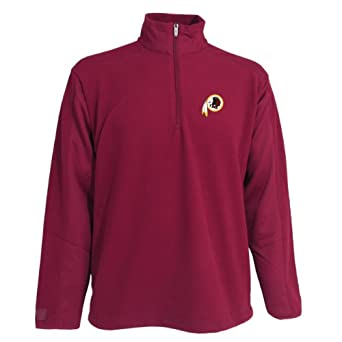 NFL Mens Washington Redskins 3 4 Zip Fleece Pullover by Antigua