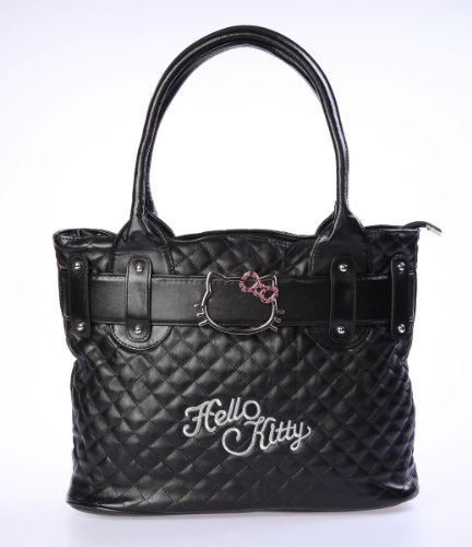 Hello-Kitty-Handbag-Tote-Shopping-Hand-Bag-Black